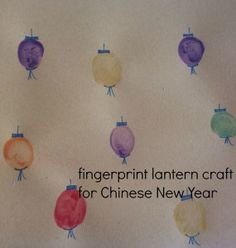 An easy Chinese New Year craft activity for pre schoolers New Year's Crafts, Diy Crafts For Kids, Projects For Kids, School Projects, Eyfs Activities, Fun Activities For Kids, Activity Ideas, Chinese New Year Crafts For Kids, Fingerprint Crafts