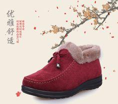 Mẫu hàng Giày boots cổ lông cực ấm dành cho nữ shop online