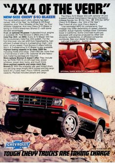 Chevrolet S 10, Chevrolet Blazer, Chevrolet Trucks, Chevy S10, Chevy Trailblazer, S10 Blazer, Car Advertising, Car Wheels, Print Ads