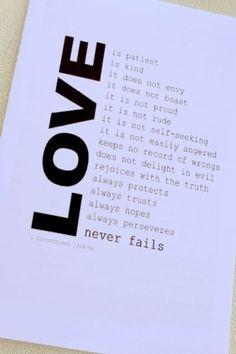 Love (1 Corinthians 13) by marissa