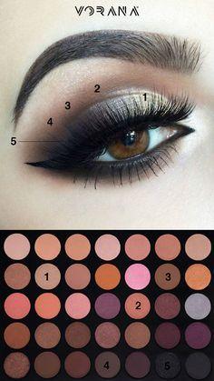 Sombras altamente pigmentadas y de fácil aplicación. #MorpheBrushes #Ojos #Sombras #MakeUp