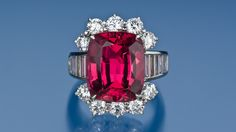 Pink to Red Spinels Are A Passion Amongst Gem Connoisseurs. This gem - #Swoon