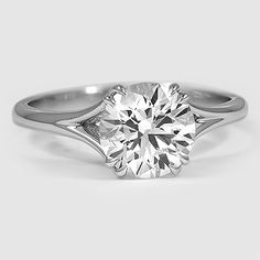 18K White Gold Reverie Ring // Set with a 1.41 Carat, Round, Ideal Cut, J Color, SI2 Clarity Lab Diamond #BrilliantEarth