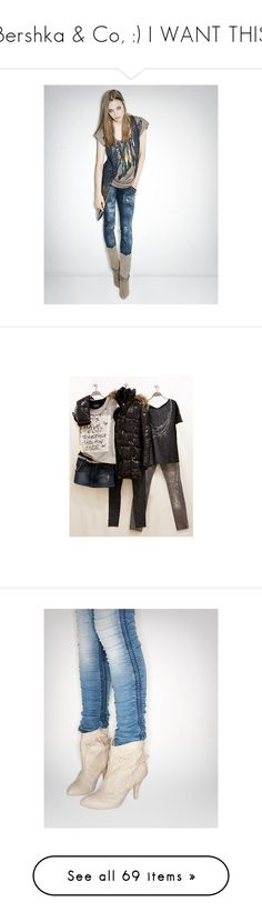"""""""Bershka & Co, :) I WANT THIS"""" by chiaretta ❤ liked on Polyvore featuring shoes, scarpe, accessories, jeans, pants, bottoms, calças, pantalones, women and zip fly jeans"""