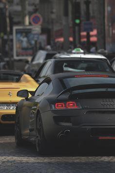 johnny-escobar: Matte Black ABT Audi R8