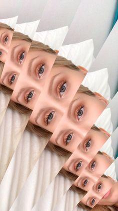 Gold eye makeup, natural lashes