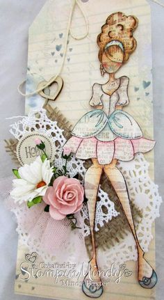 Gorgeous Julie Nutting doll tag by Mindy Baxter!