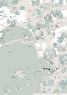 """""""Ueno Planet for Exhibition"""" by Haruka Misawa Architecture Graphics, Architecture Drawings, Landscape Architecture, Landscape Design, Photoshop, Ueno Zoo, Zoo Map, Axonometric Drawing, Architecture Visualization"""