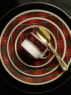 Not sure what to gift the hostess with the mostest? Go with timeless tartan pieces from our Ralph Lauren Home Collection. I'd certainly appreciate these! Tartan Christmas, Christmas China, Christmas Dishes, Christmas Tablescapes, Christmas Holidays, Christmas Brunch, Christmas Decor, Christmas Ideas, Holiday Decor