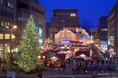 Weihnachtsmarkt auf dem Willy-Brandt-Platz