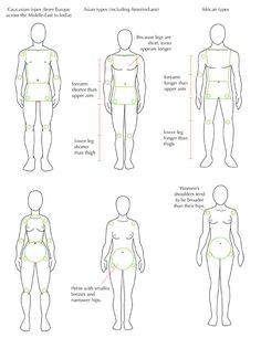 Body Proportions and Ethnic Types