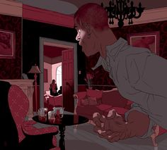 Tomer Hanuka, Killing Johnny Fry - the line-work is just amazing in all his work. Tomer Hanuka, Wonder Art, Amazing Drawings, Comic Styles, Art Background, Art Pages, Japanese Art, Illustrations Posters, Illustrators
