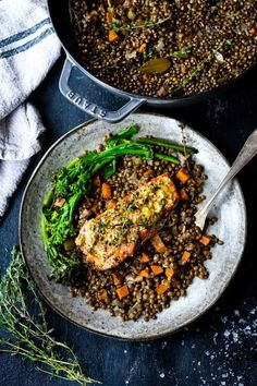 Salmon Recipes, Seafood Recipes, Indian Food Recipes, Fish Recipes, Lentil Recipes, Vegetarian Recipes, Healthy Recipes, Baked Salmon Lemon, Roasted Salmon