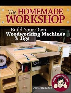 """Read """"The Homemade Workshop Build Your Own Woodworking Machines and Jigs"""" by James Hamilton available from Rakuten Kobo. Less cost! More features! Bragging rights! Let's face it: Woodworking isn't cheap. Wood and materials alone can cost a s. Woodworking Jigsaw, Learn Woodworking, Woodworking Workbench, Woodworking Workshop, Easy Woodworking Projects, Popular Woodworking, Wood Projects, Woodworking Furniture, Bandsaw Projects"""