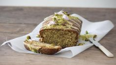 BBC Food - Recipes - Pistachio, cardamom and lemon drizzle cake