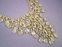 Mmmmmmm......Juliana  -- Vintage Cascading Rhinestone Crystal Juliana Necklace - Stunning Waterfall Necklace