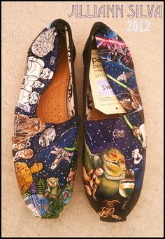 STAR WARS Toms  New Shoes Included  Made to by eastbaycalifornia, $250.00