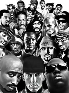 Black and White hip hop rap white black dr dre eminem biggie old school Ice Cube jayz Tupac the game Legends Big Pun dmx snoop dog dj premier snoop lion xibit Hip Hop And R&b, Love N Hip Hop, 90s Hip Hop, Hip Hop Rap, Eminem, Freestyle Rap, Arte Black, Black Art, Hip Hop Artists