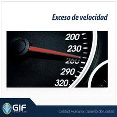Respeta los limites de velocidad cuando salgas a carretera