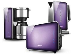 Shop and Compare Home Appliances - Kitchen Appliances - Breakfast Collection at Panasonic Small Kitchen Appliances, Kitchen Gadgets, Home Appliances, Purple Love, All Things Purple, Purple Toaster, Lavender Room, Pink Sheep, Crazy Kitchen