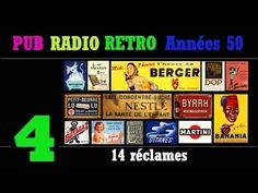 PUB RADIO RETRO Années 50-partie4/6 (100 réclames radiophoniques sur radio Luxembourg) - YouTube Radios, Pub Radio, Martini, Luxembourg, Banana, Bananas, Martinis