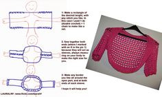 Crochet shrug or Bolero Instructions  •✿•  Teresa Restegui http://www.pinterest.com/teretegui/ •✿•