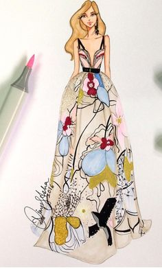 Elie Saab Fall 2016 by @dimple_asha_illustration| Be Inspirational ❥|Mz. Manerz: Being well dressed is a beautiful form of confidence, happiness & politeness