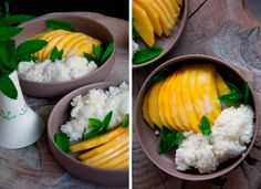 Sticky rice med mango