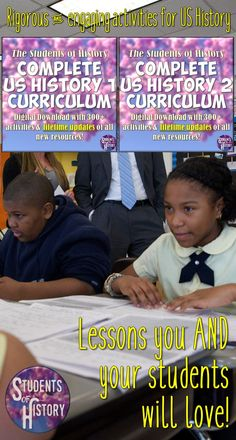 US History lesson plans that are engaging for ALL learners! Perfect for Middle School & high school teachers!