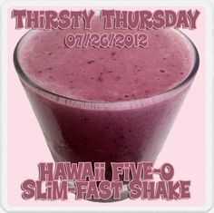 Hawaii Five-0 Slim-Fast Shake with strawberries, mango and pineapple-orange juice. Get the recipe at FatCowgirl.com.