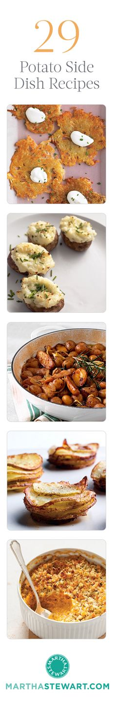 29 Potato Side Dish Recipes. Because I really need more ways to love potatoes. Bah!