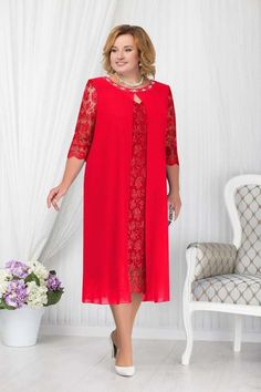 Dress Brukat, Mom Dress, Lace Dress, Plus Size Fashion For Women, Plus Size Womens Clothing, Clothes For Women, Dress Paterns, Plus Zise, Dress Pesta