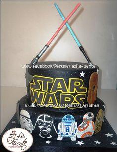 Star Wars pastel de Fondant