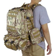 Cheap camouflage backpack, Buy Quality backpacking backpack directly from China military backpack Suppliers: 2016 Molle Oxford Travel Bag set Military Camouflage Backpack Camouflage Backpack, Military Camouflage, Military Jacket, Travel Bag, Jeans, Oxford, Backpacks, Stuff To Buy, Watch