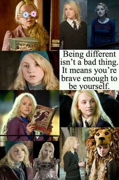 I don't watch Harry Potter, but the girl who plays Luna Lovegood was anorexic, and J. Rowling told her if she beat it she could audition for Luna. I think this is very inspirational Harry Potter Film, Harry Potter World, Mundo Harry Potter, Harry Potter Quotes, Harry Potter Love, Harry Potter Universal, Harry Potter Fandom, Nargles Harry Potter, Harry Potter Children
