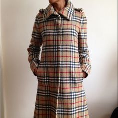 "Selling this ""Burberry Long Wool Coat"" in my Poshmark closet! My username is: theachloe. #shopmycloset #poshmark #fashion #shopping #style #forsale #Burberry #Jackets & Coats"