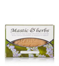 """Natural olive oil soap for every skin type with mastiha & lavender, from Chios """"Anemos"""" Pure Soap, Chios, Olive Oil Soap, Natural Cosmetics, Soap Making, Lavender, Greek, Herbs, Pure Products"""