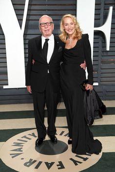 Rupert Murdoch et Jerry Hall Jerry Hall, Oscars, Vanity Fair, Oscar 2017, Rupert Murdoch, Glamour, Lady And Gentlemen, Rolling Stones, Girlfriends