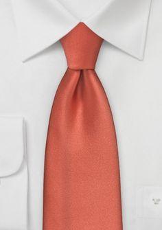 Mikrofaser-Businesskrawatte einfarbig orangerot