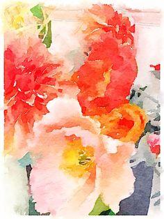 Spring Flowers ~ Waterlogue App