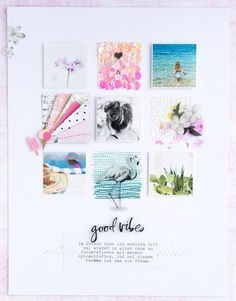 Layout 🌺 last layout with the August Scrapbook Paper Crafts, Scrapbook Supplies, Scrapbook Cards, Scrapbook Organization, Scrapbook Sketches, Scrapbook Page Layouts, Grid Layouts, Mini Albums, Bridal Shower Scrapbook