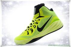 tenis de basket Nike Hyperdunk 2014 Fluorescent Verde / Preto 652482-117 Masculino-Mulheres