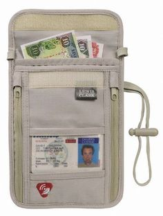 Lewis N. Clark Luggage Rfid Neck Stash | http://travel-stuff-dedrick.blogspot.com
