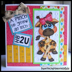 PAPER PIECING MEMORIES BY BABS: A Pinch to Grow an Inch Card