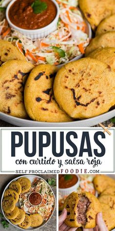 Mexican food recipes authentic - Pupusas are an easy recipe to make at home These homemade traditional Central American pupusas have a thick corn tortilla stuffed flavorful red beans pupusas recipe howtomake ElSalvador filling Authentic Mexican Recipes, Mexican Dinner Recipes, Mexican Dishes, Mexican Desserts, Ceviche Mexican, Mexican Meatball Soup, Mexican Snacks, Mexican Corn, Gourmet