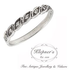 VINTAGE INSPIRED GRAIN SET ELLIPSE BAND RING. This inspired ellipse wedding band can be customized to include any combination of diamonds and/or gemstones such as sapphires, rubies, emeralds, birthstones, anniversary stones, etc & can be crafted in 9ct or 18ct white, rose or yellow gold, platinum or sterling silver.  Band width of 2.6mm  Prices vary depending on your unique specifications, please don't hesitate to contact us for a quote tailored for you. Visit us at www.klepners.com.au