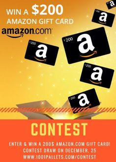 Try your luck & win a 200$ Gift card @Amazon.com Christmas contest ends on December, 25 2017!