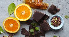 Pistachio + Chocolate  Decadent dark chocolate, clover honey, Turkish pistachios, fresh orange, and hint of fresh mint