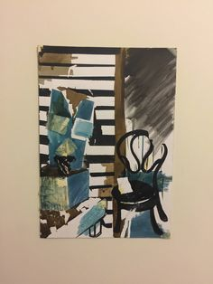 Mixed media painting of interior by LorenArtPageAU on Etsy