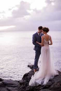 The pinks and blues in this wedding picture give it a beautiful dreamy feel.